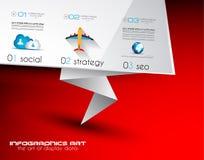 您的企业项目飞行物设计的小册子模板 库存照片