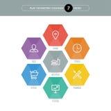 您的企业介绍的平的几何图模板与正文和象 库存图片