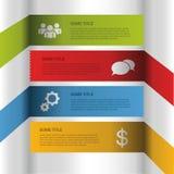 您的企业介绍的模板 传染媒介步 免版税库存图片