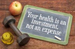 您的健康是投资 库存图片
