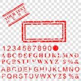 您的元素设计的模板长方形红色难看的东西不加考虑表赞同的人作用在透明假背景 库存例证