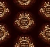您的公主的经典无缝的样式 库存图片