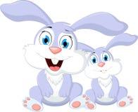 您的动画片兔子设计 免版税库存图片