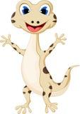 您的动画片微笑的壁虎设计 库存图片