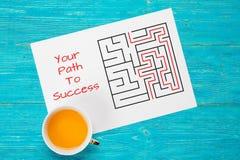 您的向成功概念的道路 免版税库存照片