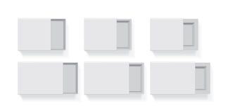 您的商标和设计的一个箱子 向量例证