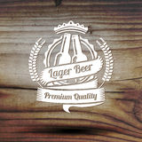 您的啤酒事务的旧式的标签,商店 图库摄影