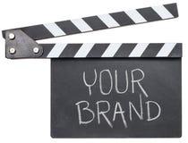 您的在墙板的品牌文本 图库摄影