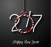 2017年您的季节性飞行物的新年快乐背景 向量例证