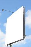 给您的宠物做广告的广告牌有蓝天背景 免版税库存照片
