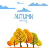 您的小册子的秋天风景 也corel凹道例证向量 库存图片