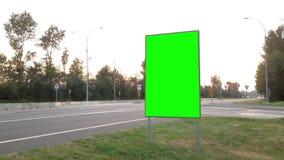 您的广告的绿色广告牌 股票视频