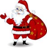 您的愉快的圣诞老人动画片设计 库存照片