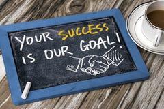 您的成功是我们的目标 库存照片