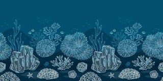 您的打印或网基体的海底  向量例证