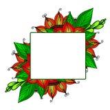 您的文本的框架有花卉背景 贺卡,邀请,横幅 也corel凹道例证向量 库存图片
