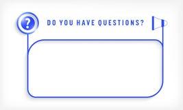 您的文本的蓝色语篇框架图 皇族释放例证
