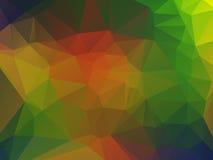 您的桌面的多角形背景 库存例证