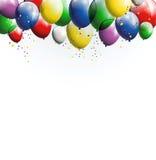 您的气球背景设计 图库摄影