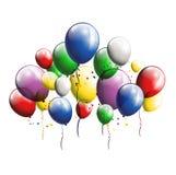 您的气球背景设计 免版税库存图片