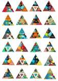 您的消息或选择横幅的三角形状 免版税图库摄影