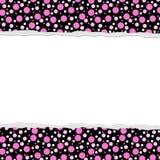 您的消息或邀请的桃红色圆点背景 免版税库存图片