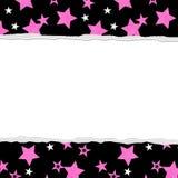 您的消息或邀请的桃红色星背景 库存图片