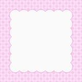 您的消息或invitationd的桃红色方格的庆祝框架 库存图片