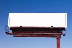 您的消息的空白的广告牌标志 免版税库存照片