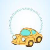 您的消息的简单的空白的框架与kiddish样式汽车 向量例证
