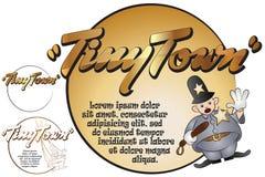 您的消息的贴纸 玩具在微小的镇 警察 免版税库存照片