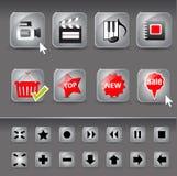您的站点的按钮 库存照片