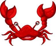 您的红色螃蟹动画片设计 免版税库存图片