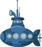 您的蓝色潜水艇设计 免版税库存照片