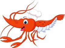 您的虾动画片设计 免版税库存照片