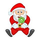 您的设计传染媒介例证的圣诞老人 免版税图库摄影