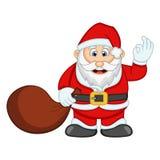 您的设计传染媒介例证的圣诞老人 库存照片