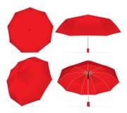 您的设计和商标的伞 免版税库存照片