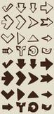 您的设计的传染媒介手拉的箭头元素 免版税库存照片