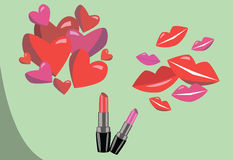您的设计的唇膏 免版税库存图片