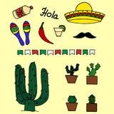 您的设计的墨西哥模板 图库摄影