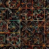 您的设计的抽象几何无缝的样式 皇族释放例证
