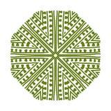 您的设计的抽象绿色圈子样式 图库摄影