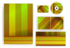 您的设计的文具集合,五颜六色数字式 库存图片