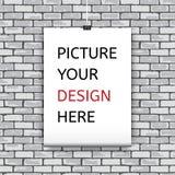 您的设计的海报模板。 免版税图库摄影