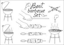 您的设计的烤肉集合 免版税图库摄影