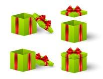 您的设计的礼物盒 免版税库存图片