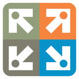 您的设计的箭头标志 免版税库存图片