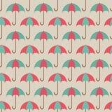 您的设计的红色和绿色开放伞 免版税库存照片