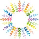 您的设计的花卉圆的框架 库存例证